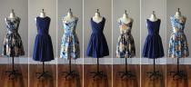 wedding photo - Floral Bridesmaid Dresses / Handmade / Floral / Custom / Wedding / Rustic / Mismatched / Bridesmaids / Vintage Inspired Dress