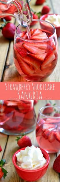 wedding photo - Strawberry Shortcake Sangria