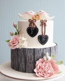 wedding photo - Rustic Engagement Cake / Cupcake / Cookies
