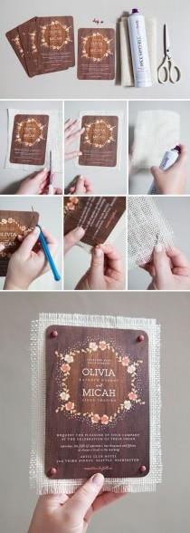 wedding photo - Learn How To Embellish Store Bought Wedding Invitations!