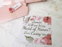 wedding photo - Be my Мaid of Honor card Will You Be my bridesmaid proposal card Bridesmaid proposal Puzzle card Maid of Honor Invite