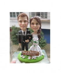 wedding photo - Sculpted custom funny wedding Cake Topper Figurine dog pet animal personalized wedding cake toppers unique cake toppers customized topper