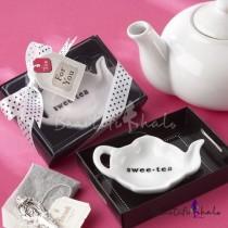 "wedding photo - Beter Gifts® Classic ""Swee Tea"" Ceramic Tea Bag Candy Favor"