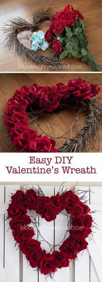 wedding photo - Valentine Wreath {DIY
