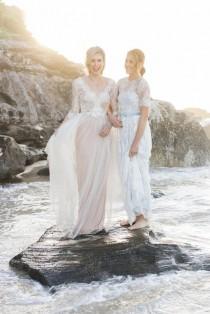 0b1855e2ae73 Pastel Beach Wedding Inspiration - Polka Dot Bride