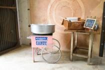 wedding photo - Up your carnival-theme game: get a cotton candy machine!