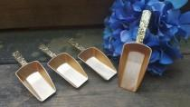 wedding photo - Gold wedding candy buffet scoops, rustic wedding favors, vintage shabby chic wedding, country wedding, set of 4