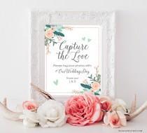 wedding photo - PRINTABLE Wedding Hashtag Sign, Wedding Photos Sign, Floral Boho Wedding Instagram Hashtag Print, Bridal Shower Hashtag, DIGITAL