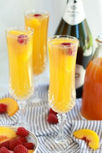 wedding photo - Raspberry Peach Mimosas