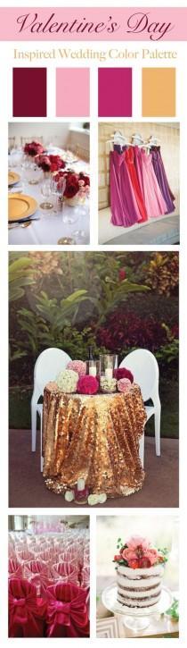wedding photo - Valentine's Day Inspired Wedding Color Palette