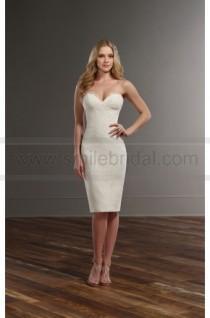 wedding photo - Martina Liana Lace Strapless Short Wedding Dress Separates Style Darcy