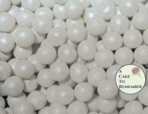 wedding photo - 100 8mm fondant cake pearls, sugar gems for cake decorating, cupcake pearls, cake bling, edible cake jewels, edible pearls, sugar pearls
