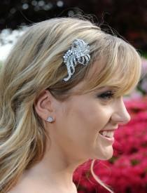 wedding photo - Bridal Hair comb - Vintage Style Rhinestone Wedding Bridal Headpiece