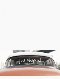 wedding photo - Kate Spade - Just Married Window Cling