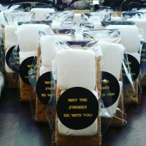 wedding photo - May The S'mores Be With You Party Favor-Star Wars Party Favor- Wedding Favors