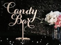 wedding photo - Candy Bar Table Sign, Candy Bar Sign, Sweets Buffet Sign, Candy Table Sign