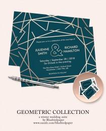 wedding photo -  Modern Geometric Collection