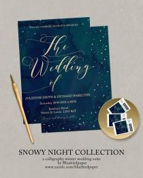 wedding photo -  Snowy Night Collection
