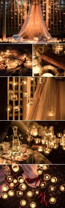 wedding photo - Magical Romantic Candle Light Engagement Session From Kunioo