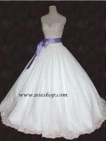 wedding photo - Bride War Movie Strapless Princess Lace Ball Gown Wedding Gown