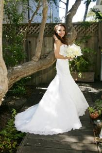 wedding photo - Strapless Lace Mermaid Wedding Dress Sweetheart Mermaid Wedding Dress Lace Mermaid Wedding Dress