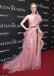 wedding photo - Elle Fanning Stuns In Ruffled Dress At NY Premiere Of The Neon Demon