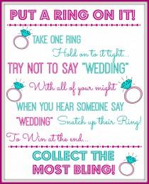 wedding photo - Put a Ring on it Bridal Shower Game Bachelorette Party Game