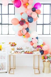 wedding photo - How To Make A Balloon Arch (video!) & Reader Photos