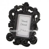 wedding photo - Beter Gifts® Wedding Décor - 1pcs Black Baroque Elegant Photo Frame Place Card Holder Party Décor