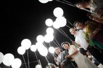 wedding photo - White LED lights for Balloons! Wedding Send off! Party Decorations LED lights Balloon Lights