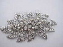 wedding photo - Wedding hair comb pearl Bridal hair comb hair jewelry Wedding headpiece vintage Bridal hair accessory Bridal hair jewelry Wedding hair piece