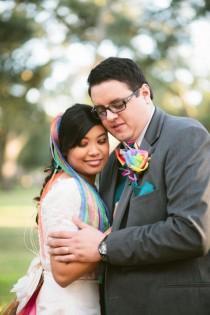 wedding photo - Lively Rainbow Wedding