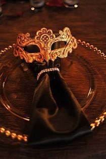 wedding photo - Stunning Masquerade Wedding Theme - The Inspired Bride