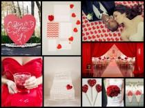 wedding photo - Posts About Red Wedding Inspiration On Fantastical Wedding Stylings