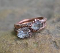 wedding photo - Herkimer Diamond Ring, Copper Electroformed Ring, Raw Crystal Ring, Copper Rings, Natural Stone Rings, Unique Engagement Ring, Wedding Ring