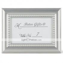 wedding photo - Beter Gifts® Recipient Gifts - 4 x 3 inch, Silver Mini Photo Holder Favor / Escort Place Card Holder Party Décor
