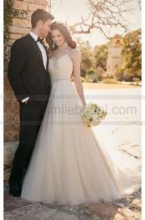 wedding photo - Essense Of Australia A-Line Wedding Dress With Ruched Sweetheart Bodice Style D2175