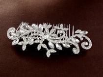 wedding photo - Vine design headpiece, Bridal swirl  hair comb,Rhinestone bridal hair accessories, Vintage style hair jewelry