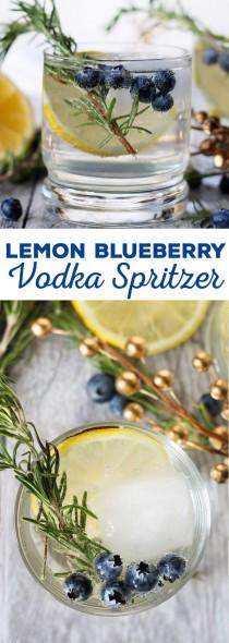 wedding photo - Lemon Blueberry Vodka Spritzer