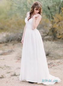 wedding photo - H1518 Simple elegant sweetheart a line Organza wedding dress