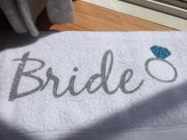 wedding photo - Bride Towel Custom Towel Bachelorette Party Towel