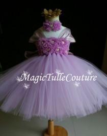wedding photo - Lavender Lilac light purple flower girl tutu dress toddler dress birthday dress easter dress tulle dress 1t2t3t4t5t6t7t8t9t10t