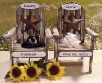 "wedding photo - Texas Wedding Cake Toppers ""PERSONALIZED"" Adirondack Chair Cake Topper ....Texas Star"