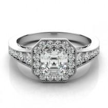 wedding photo - Asscher Cut Forever One & Diamond Engagement Ring 14k, 18k or Platinum, For Women, Diamond Vintage Art Deco Wedding Rings, Etsy, Pinterest, Jewelry for Women
