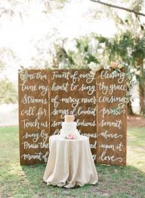 wedding photo - Calligraphy Wedding Backdrop