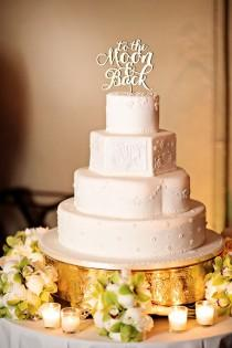 """wedding photo - """"To The Moon And Back"""" Cake Topper"""