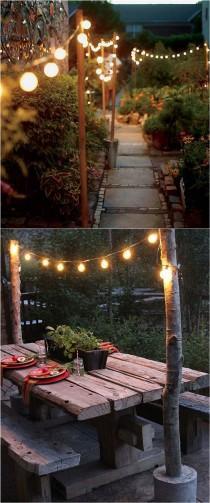wedding photo - 28 Stunning & Easy DIY Outdoor Lights