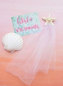 wedding photo - Beachy Bachelorette Party? You Need These Mermaid Gift Sets!
