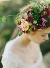 wedding photo - Gorgeous Floral, Autumn Wedding Crowns