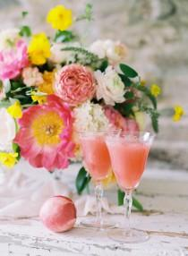 wedding photo - Signature Cocktail :: Peach Bellini with Prosecco and Sorbet